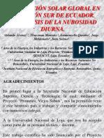 La Radiación Solar Global en La Región Sur de Ecuador