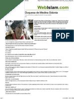 Entrevista Con La Duquesa de Medina Sidonia. América Versus África