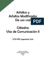 Asfaltos y Asfaltos Modificados de Uso Vial