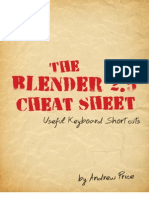 The Blender 2.5 Cheat Sheet - Useful Keyboard Shortcuts