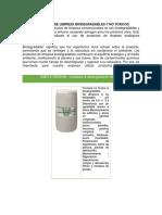 Productos de Limpieza Biodegradables y No Toxicos