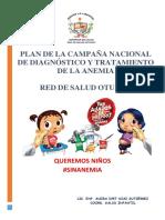 Plan Para La Campaña de Anemia
