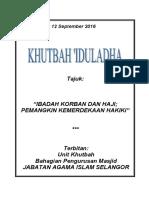 KHUTBAH IDUL ADHA ( RUMI ) IBADAH KORBAN DAN HAJI; PEMANGKIN KEMERDEKAAN HAKIKI.pdf