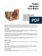Proteus 200 Flowmeter Data Sheet
