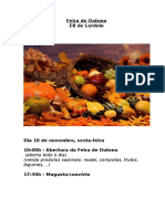 Cartaz Feira de Outono 2017-2018