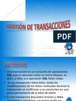 Gestión de Transacciones