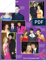 Rutherford High, Year 12 formal, 2007