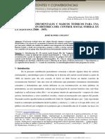 CONCEPTOS INSTRUMENTALES Y MARCOS TEÓRICOS PARA UNA RECONSTRUCCIÓN HISTÓRICA DEL CONTROL SOCIAL FORMAL EN LA AGENTINA (1880 – 1955) JOSÉ DANIEL CESANO