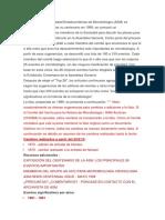 Periodos de la Microbiologia en Español