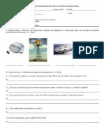evaluacion tecnologia 8º año Objetos tecnológicos