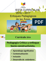 Enfoque Pedagogico Por Areas