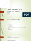 case presentation for autumn care final