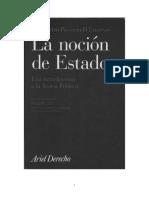 PASSERIN D´ENTREVES Alessandro - La noción de Estado