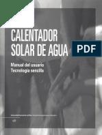 Calentador Solar de Agua-manual Del Usuario