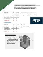Calculo de Volumen Biodigestor