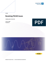 Resolving PSCAD Issues