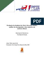 Produção do biodiesel de Xixá (Sterculia striata), análise do desempenho e das emissões em motores DieselProdução do biodiesel de Xixá (Sterculia striata), análise do desempenho e das emissões em motores Diesel