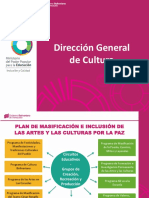Presentación Del Plan de Masificación e Inclusión de Las Artes y Las Culturas Por La Paz