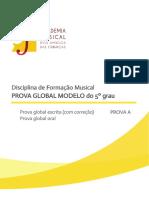 Prova Modelo 5grau Integral A