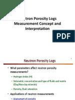 Neutron Porosity Logs