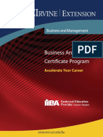 Business Analyst Certificate Program