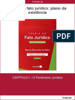 Teoria Do Fato Jurídico - Plano Da Existência - Marcos Bernardes de Mello - CAP 1