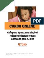 Clase 4. Cómo Elegir El Método Adecuado de Acuerdo Al Estilo y Ritmo de Aprendizaje