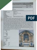 Ficha de Inventário Altar Mor Igreja Igreja Matriz
