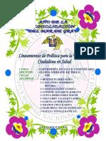 Lineamientos de Política Para La Vigilancia Ciudadana en Salud Original