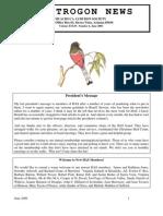June 2006 Trogon Newsletter Huachuca Audubon Society