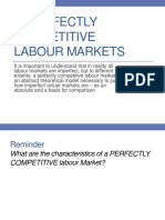 Imperfectly Competitive Labour Markets
