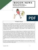 September 2006 Trogon Newsletter Huachuca Audubon Society