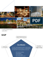 GGP General Growth Properties  Investor Presentation - June 2015