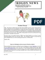 June 2007 Trogon Newsletter Huachuca Audubon Society