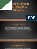 Fundamentos Básicos de Programación Orientada a Objetos (POO)