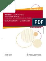 Ateneo didáctico N.° 1 - Matemática - Secundaria - Ciclo Básico