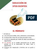 Taller El Parrafo