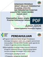 KaPus Pagatan, Tanbu - Sumber Pembiayaan Untuk Mendukung Pelaksanaan PIS-PK, GERMAS Dan SPM(1)
