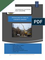 Operaciones en Obra de Concreto Armado