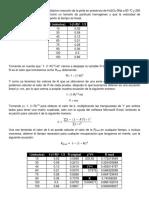 Determine La Constante de Velocidad en Reacción de La Pirita en Presencia de H2SO4