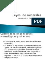 Leyes de Minerales