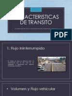 características de transito