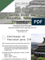 Sukses Studi Dan Aktivitas Mahasiswa Pascasarjana