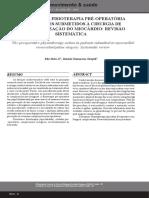La Actuación de La Fisioterapia Pre-operatoria en Pacientes Sometidos a La Cirugía de Re Vascularización Del Miocardio- Revisión Sistemática