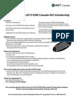 ESRI Scholarship Award 2015