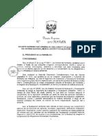 DECRETO N° 2012 DE APROBACION DE REGLAMENTO DE LEY 29325 LEY SINEFA