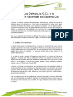 Declaracion Oficial Las Delicias