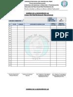 Fichas de Control de Asistencia Prácticas Pre Profesionales 2017 II