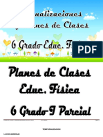 Plan de clase 6 Grado Educ. Fisica