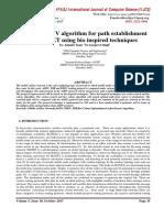 Hybrid AODV algorithm for path establishment in MANET using bio inspired techniques